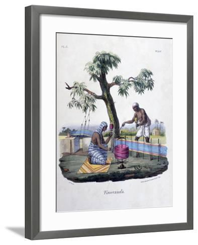 Weavers, 1828- Marlet et Cie-Framed Art Print