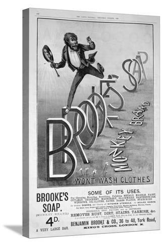 Advert for Brooke's Monkey Brand Soap, 1889--Stretched Canvas Print