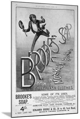 Advert for Brooke's Monkey Brand Soap, 1889--Mounted Giclee Print