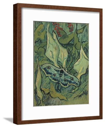 Green Peacock Moth (The Emperor Mot), 1889-Vincent van Gogh-Framed Art Print