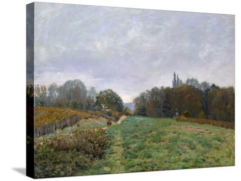 Landscape at Louveciennes, 1873-Alfred Sisley-Stretched Canvas Print