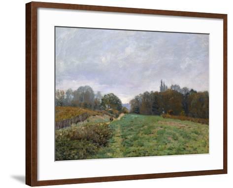 Landscape at Louveciennes, 1873-Alfred Sisley-Framed Art Print