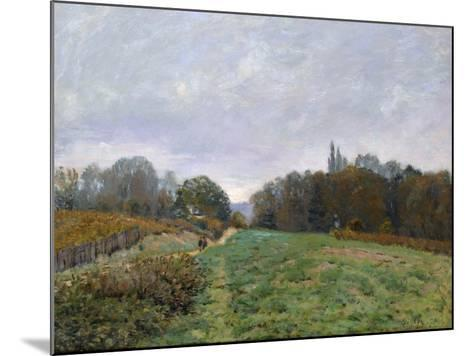 Landscape at Louveciennes, 1873-Alfred Sisley-Mounted Giclee Print
