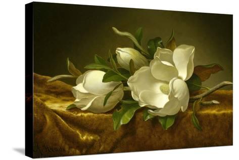 Magnolias on Gold Velvet Cloth, C. 1889-Martin Johnson Heade-Stretched Canvas Print