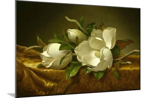 Magnolias on Gold Velvet Cloth, C. 1889-Martin Johnson Heade-Mounted Giclee Print