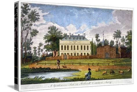 A Gentleman's Seat on Stockwell Common, Lambeth, London, 1792--Stretched Canvas Print