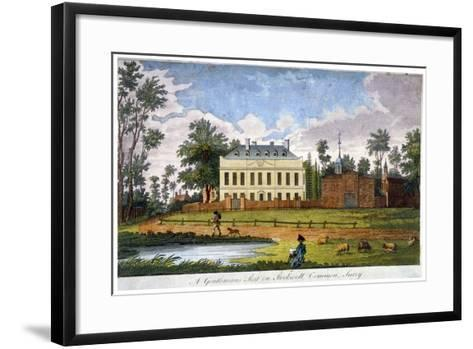 A Gentleman's Seat on Stockwell Common, Lambeth, London, 1792--Framed Art Print