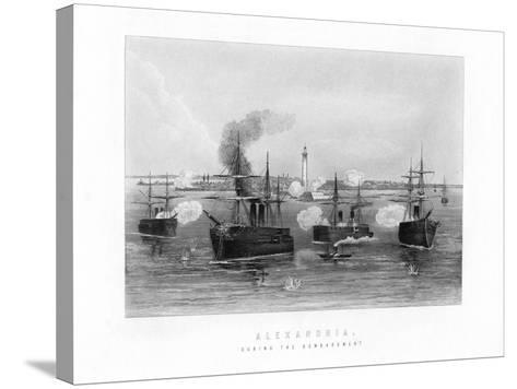 Alexandria, During the Bombardment, 1882, (19th Century)--Stretched Canvas Print