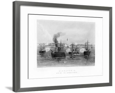 Alexandria, During the Bombardment, 1882, (19th Century)--Framed Art Print