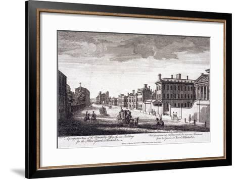 Admiralty, Whitehall, London, 1794-Laurie & Whittle-Framed Art Print