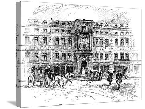 The Old Mercers Hall, London, 1909--Stretched Canvas Print