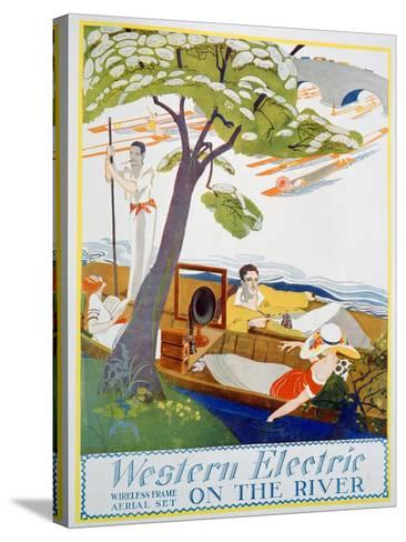 Advert for Western Electric Company Wireless Frame Aerial Sets, 1923--Stretched Canvas Print
