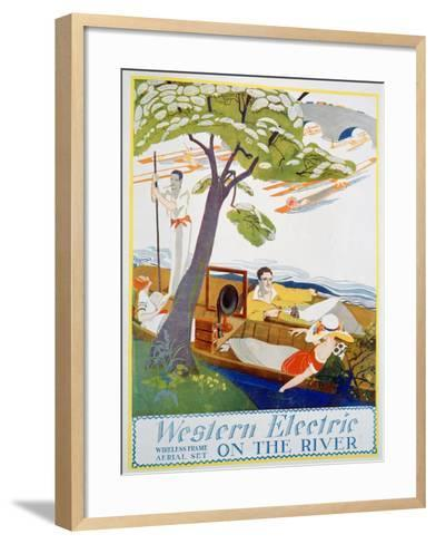 Advert for Western Electric Company Wireless Frame Aerial Sets, 1923--Framed Art Print