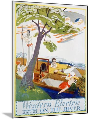 Advert for Western Electric Company Wireless Frame Aerial Sets, 1923--Mounted Giclee Print