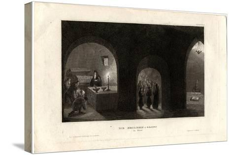 Interior View of the Holy Tomb in the Kiev Monastery of the Caves, 1850--Stretched Canvas Print