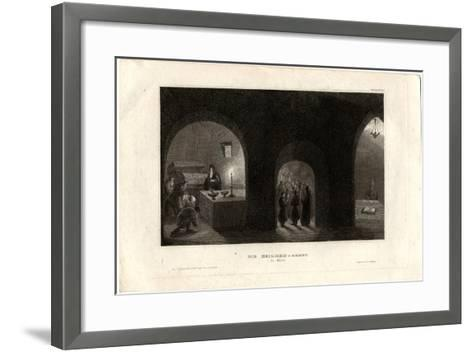 Interior View of the Holy Tomb in the Kiev Monastery of the Caves, 1850--Framed Art Print
