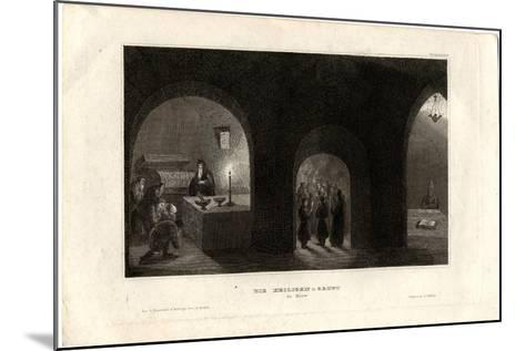 Interior View of the Holy Tomb in the Kiev Monastery of the Caves, 1850--Mounted Giclee Print