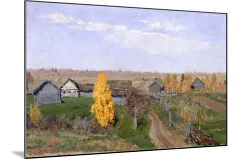 Golden Autumn. Slobodka, 1889-Isaak Ilyich Levitan-Mounted Giclee Print