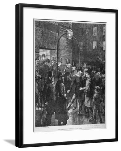 Scene at Whitecross Street Prison Showing a Release of Prisoners, London, 1870--Framed Art Print