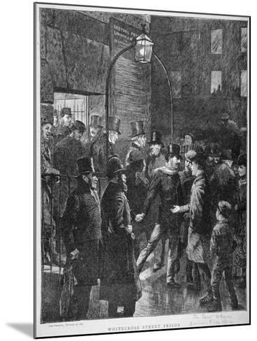 Scene at Whitecross Street Prison Showing a Release of Prisoners, London, 1870--Mounted Giclee Print