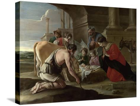 The Adoration of the Shepherds, C. 1640-Louis Le Nain-Stretched Canvas Print
