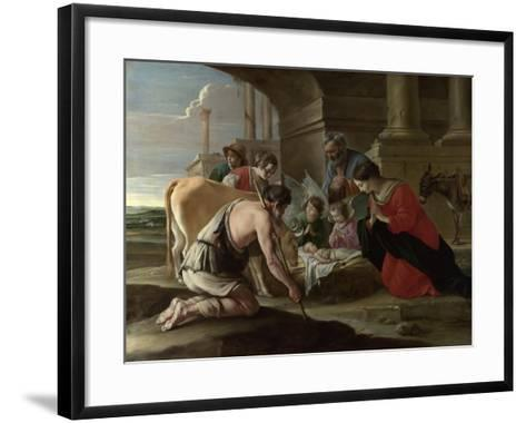 The Adoration of the Shepherds, C. 1640-Louis Le Nain-Framed Art Print