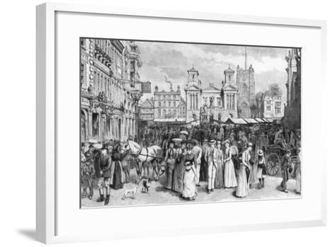 The Market Place, Kingston Upon Thames, Surrey, 1890--Framed Art Print