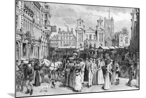 The Market Place, Kingston Upon Thames, Surrey, 1890--Mounted Giclee Print