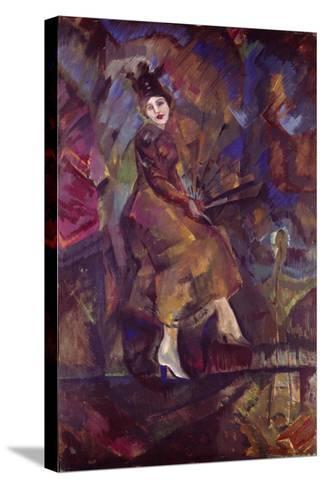 Portrait of Panna Paskevich-Georgi Bogdanovich Yakulov-Stretched Canvas Print