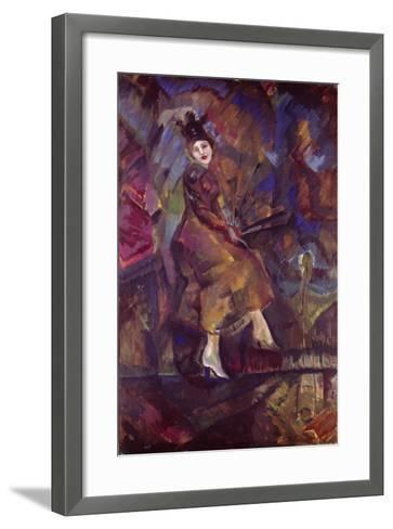 Portrait of Panna Paskevich-Georgi Bogdanovich Yakulov-Framed Art Print