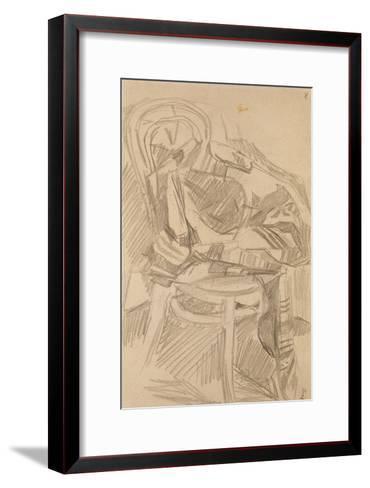 Plaid on the Chair, 1904-Mikhail Alexandrovich Vrubel-Framed Art Print