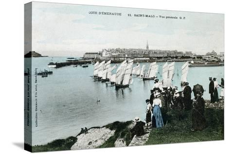 General View of Saint Malo, Brittany, France, 20th Century--Stretched Canvas Print
