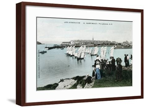 General View of Saint Malo, Brittany, France, 20th Century--Framed Art Print