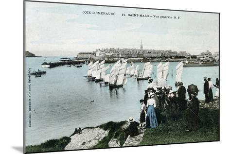 General View of Saint Malo, Brittany, France, 20th Century--Mounted Giclee Print