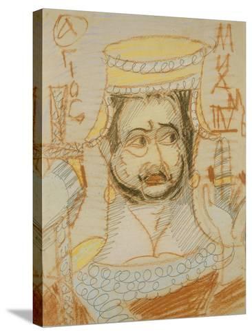 Saint Michael the Archangel-Mikhail Alexandrovich Vrubel-Stretched Canvas Print