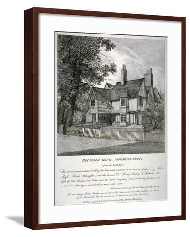 The Rector's House on Newington Butts in Southwark, London, 1795--Framed Art Print