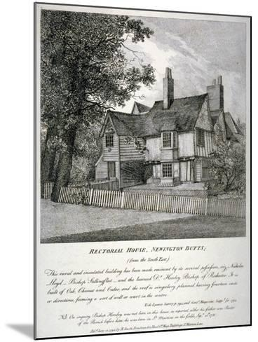 The Rector's House on Newington Butts in Southwark, London, 1795--Mounted Giclee Print