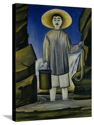 Fisherman Among the Rocks, 1906-Niko Pirosmani-Stretched Canvas Print