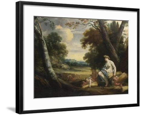 Ceres and Harvesting Cupids, C. 1635-Simon Vouet-Framed Art Print