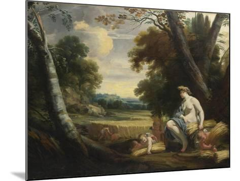 Ceres and Harvesting Cupids, C. 1635-Simon Vouet-Mounted Giclee Print
