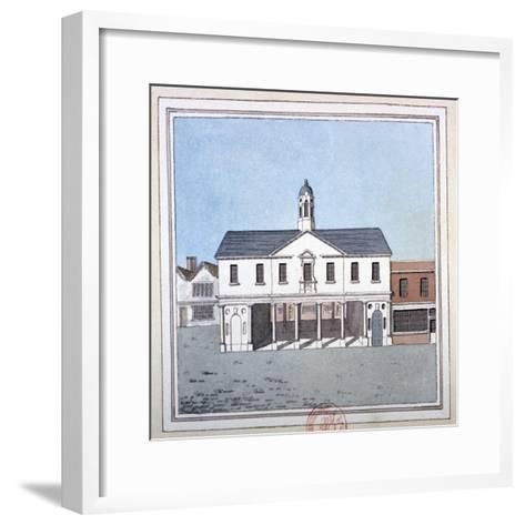 View of Romford Market House, Essex, C1800--Framed Art Print
