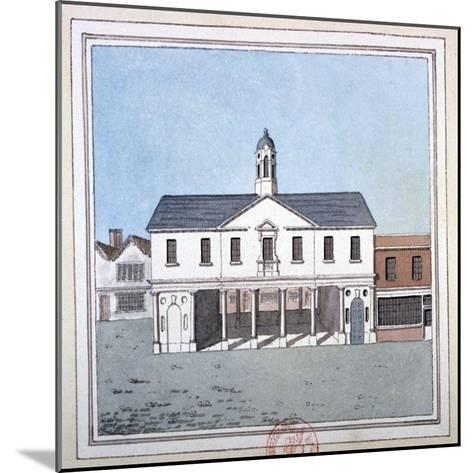 View of Romford Market House, Essex, C1800--Mounted Giclee Print