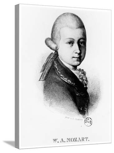 Wolfgang Amadeus Mozart (1756-179) in 1770--Stretched Canvas Print
