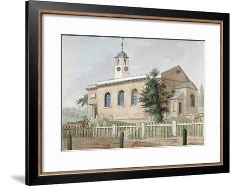 St Mary's Church, Hanwell, Middlesex, C1800--Framed Art Print