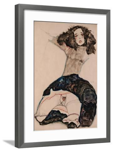Black-Haired Girl with Lifted Skirt, 1911-Egon Schiele-Framed Art Print