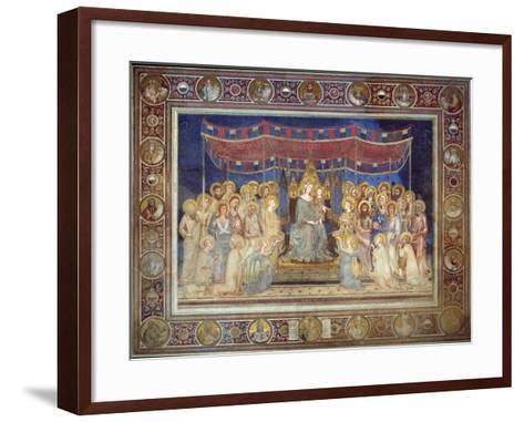 Maestà, 1315-1321-Simone Di Martini-Framed Art Print