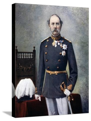 King Christian IX of Denmark, Late 19th-Early 20th Century--Stretched Canvas Print