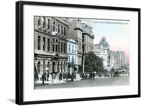 Looking West Along Collins Street, Melbourne, Australia, 1912--Framed Art Print