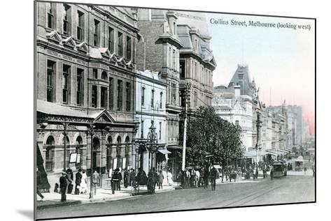 Looking West Along Collins Street, Melbourne, Australia, 1912--Mounted Giclee Print