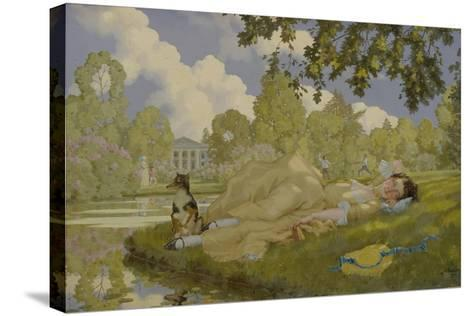 Sleeping Woman in a Park, 1922-Konstantin Andreyevich Somov-Stretched Canvas Print
